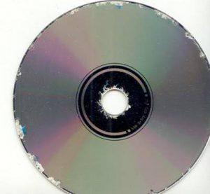 DVD met aangetaste schrijflaag